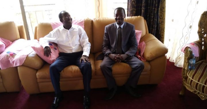 Vice President of South Sudan H.E General James IGGA Wani Meet  Luzindana Adam Buyinza CEO of Public Opinions International